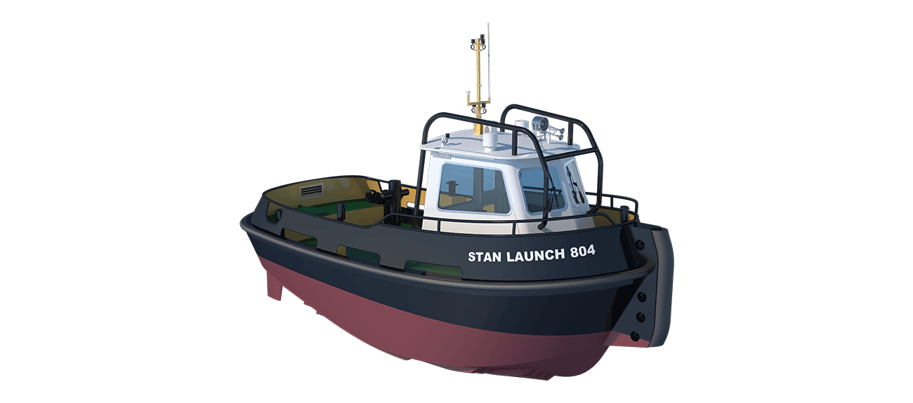Stan Launch series are designed for push-pull, harbour assisting and escort towing operations as well as fire fighting, salvage, oil polution, hose handling and anchor handling operations