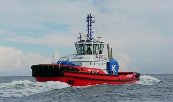 The Damen-built ART 80-32 Hybrid Rotortug RT Evolution was named at the Greenwich Ship Tier in London