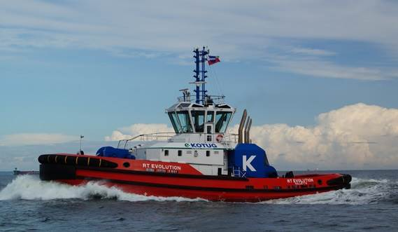 Rotor®tug has excellent seakeeping behaviour, superb manoeuvrability and outstanding towing characteristics.