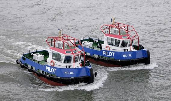 KTK Tugs (Kompania Di Tou Kòrsou) of Curacao has taken delivery of two Damen Stan Tugs 1205, named NC-7L en NC-8L