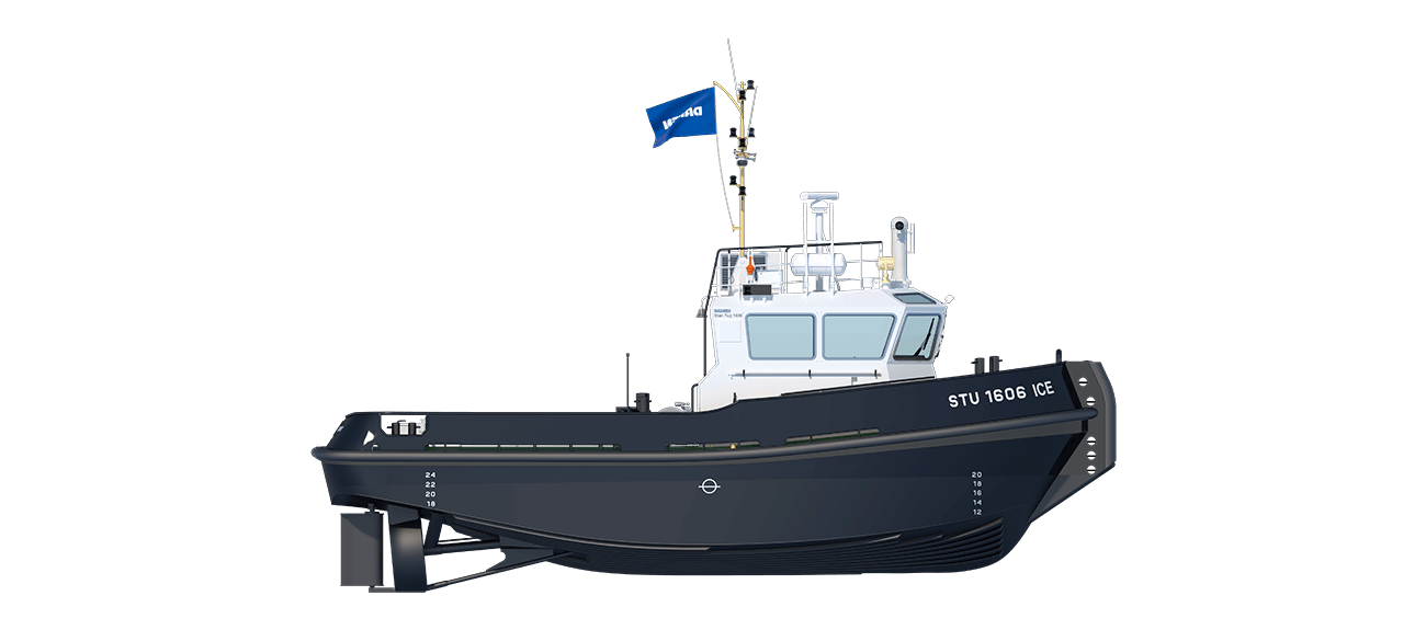 Damen StanTug 1606 ICE Class has heavy hull construction
