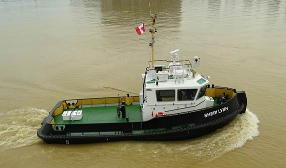 The Sheri Lynn S serves as an assist tug when larger vessels come into port at Picton Terminals and brings barges around the Great Lakes.