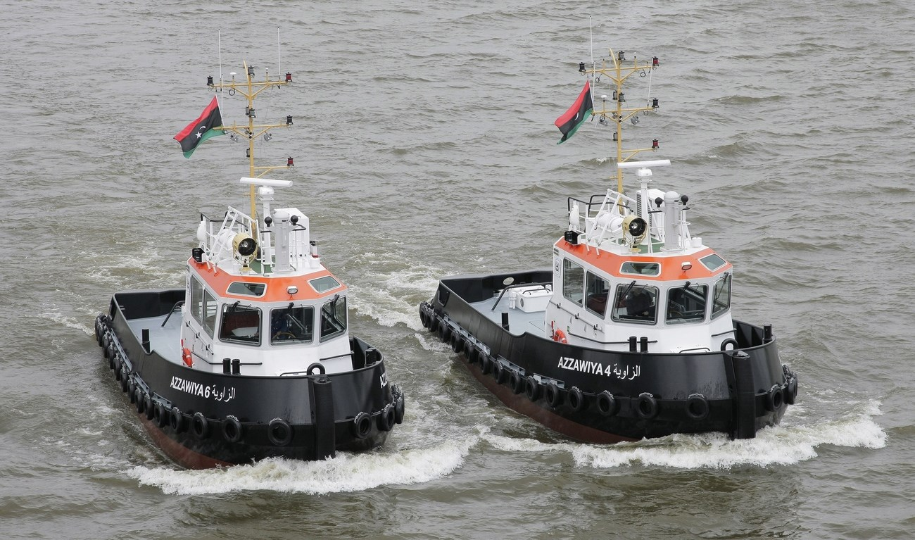 In 1974 Damen delivered two Damen Stan Tugs to their first Libyan customer, Azzawiya Oil Refining Company Inc. (ARC).