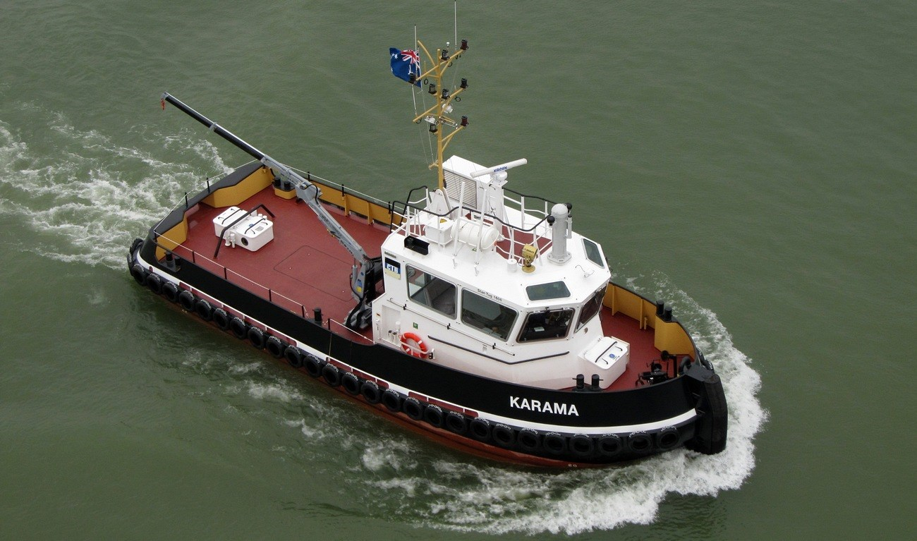 The 'Karama' was delivered to Adstan Tug Charters, a joint venture between Stannard Marine and Svitzer Australia, for their operation in Darwin in the Northern Territories.
