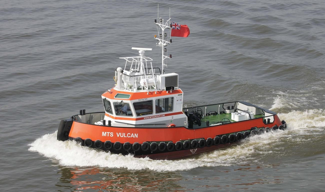In February 2012, the Stan 1606 Tug 'MTS Vulcan 2' was delivered to her owner MTS Marine & Towage Services Group.
