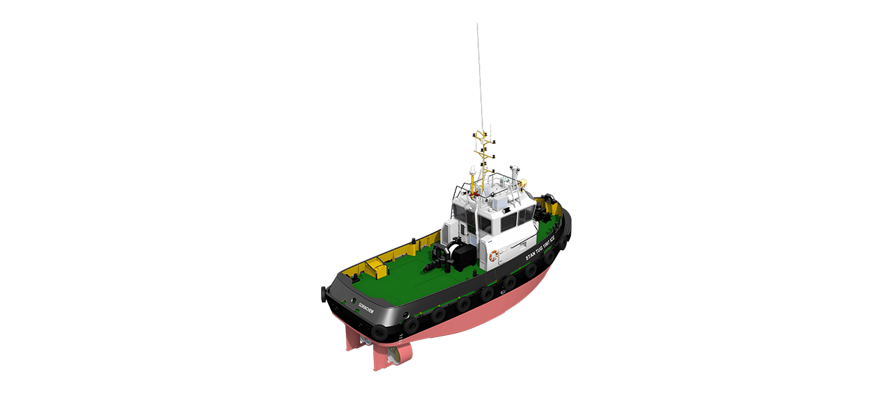 Damen Stan Tug 1907 ICE Class vessel has excellent seakeeping behaviour, superb manoeuvrability and outstanding towing characteristics