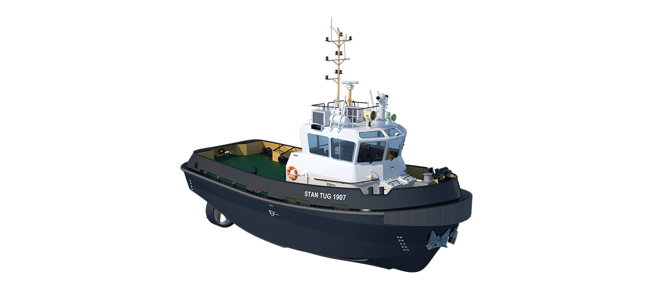 Damen Stan Tug 1907 has excellent seakeeping behaviour, superb manoeuvrability and outstanding towing characteristics