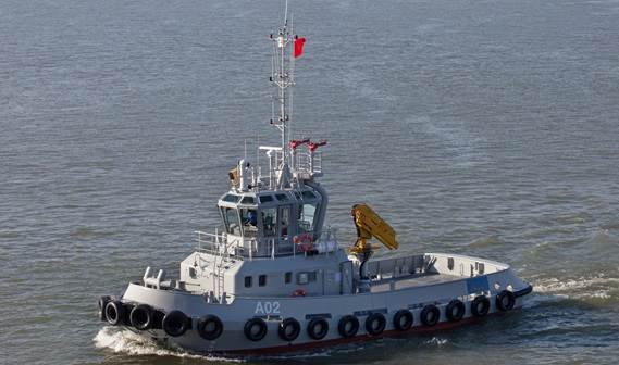 The Royal Moroccan Navy has taken delivery of a Damen Stan Tug 2208.