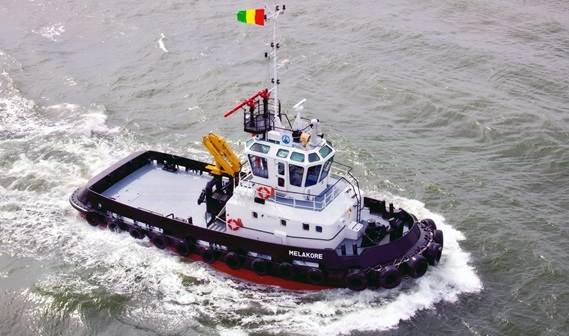 After the successes of the various Damen vessels in its fleet, the Port Autonome de Conakry (Guinea) has taken delivery of its brand new workhorse 'Melakore'.