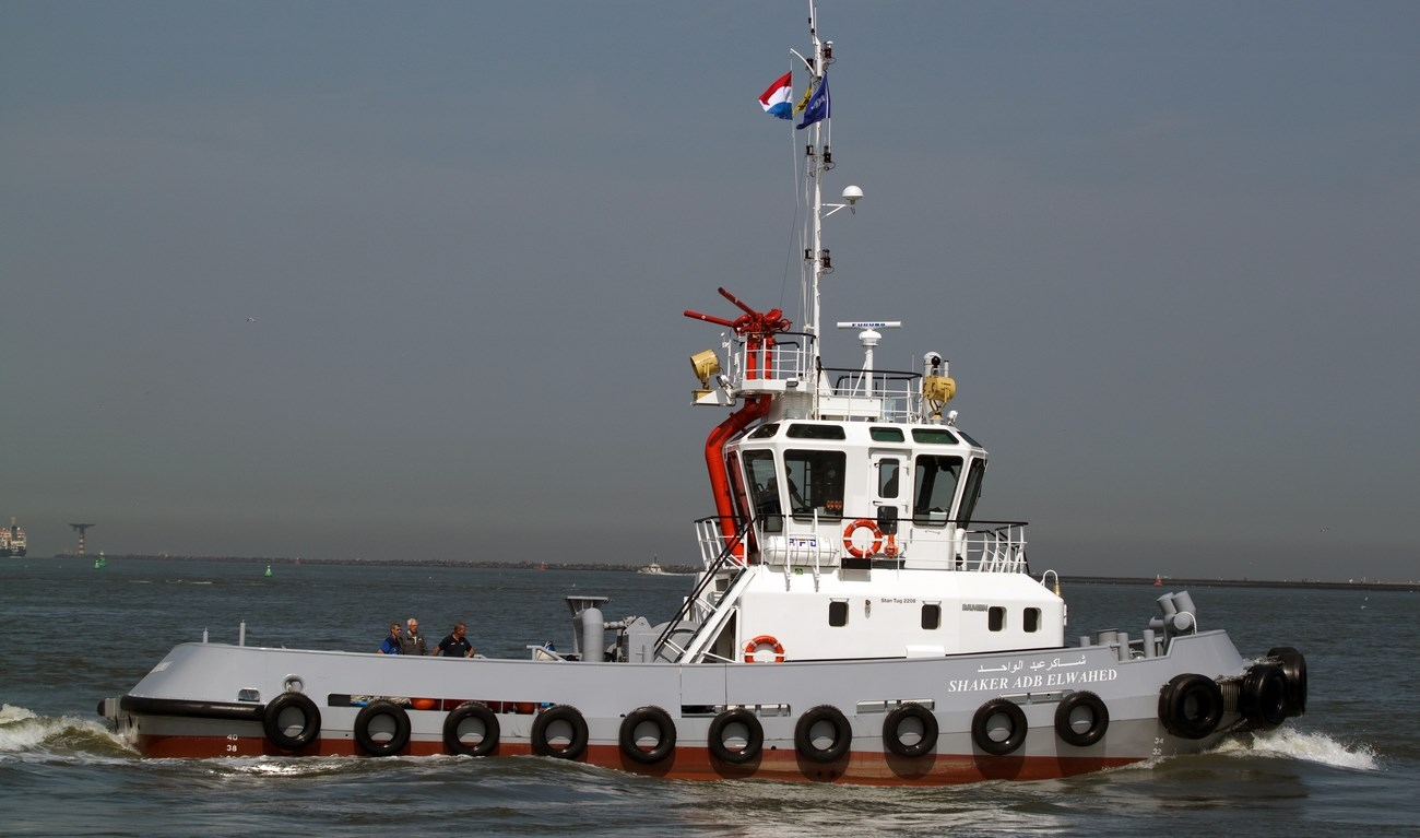 The Egyptian Navy Salvage Command Unit took delivery of the last two of a series of four Damen Stan 2208 Tugs in October 2010.
