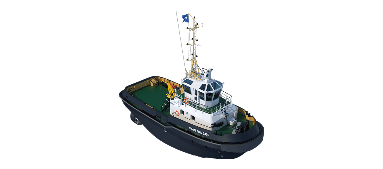 Damen Stan Tug 2309 has excellent seakeeping behaviour, superb manoeuvrability and outstanding towing characteristics