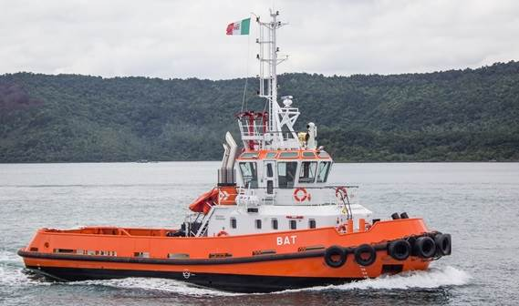 The new tug, called Bat, will strengthen Ocean's capacity in the compact confines of the port of Monfalcone.