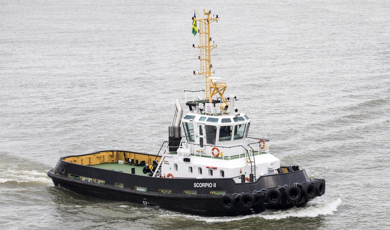 26 m length Damen Stan Tugboat 2608 with 47 t bollard pull from stock