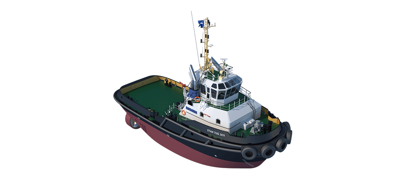 Damen Stan Tug 3011 has excellent seakeeping behaviour, superb manoeuvrability and outstanding towing characteristics