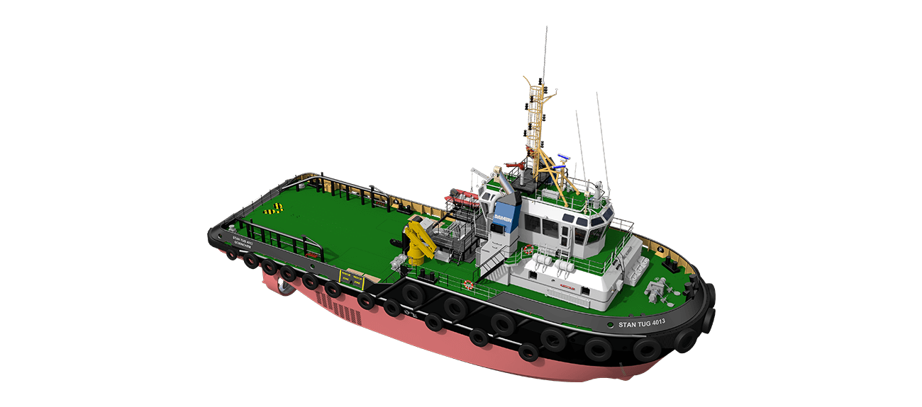 Damen Stan Tug 4013 has excellent seakeeping behaviour, superb manoeuvrability and outstanding towing characteristics