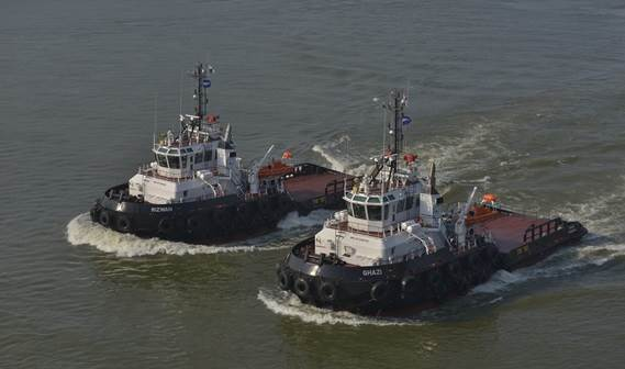 Gulf Shipping Maritime has taken delivery of two Damen Stan Tug 4013, named Ghazi and Rizwan.