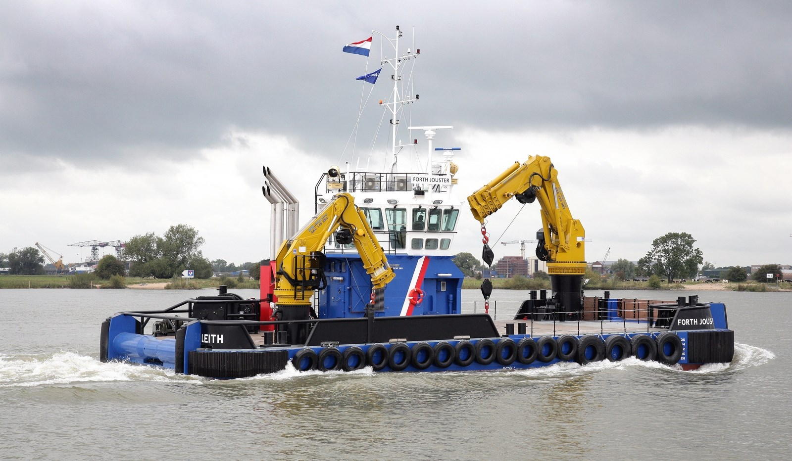Two Cranes Equipped Damen Multicat 2611 Is Already In Stock