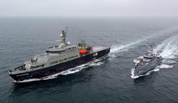Multi-role Aviation Training Vessel can undertake torpedo and mine recovery operations, navigation training, and dive support