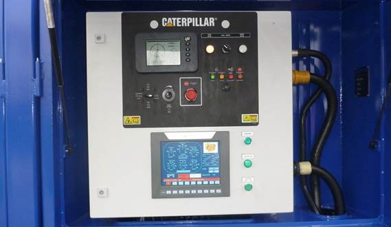 Control panel  diesel engine for dredge pump drive