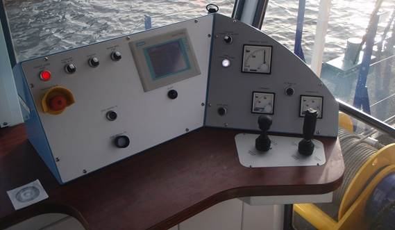 All Damen CSD operating cabins are equipped for easy operation