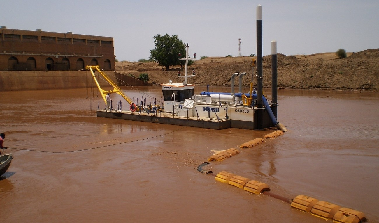 A complete dredging package was delivered to Sudan
