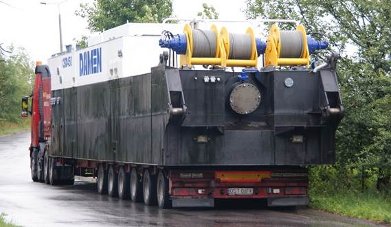 The modular design enables transport of the dredger components by road
