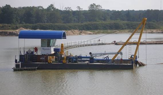DOP Dredger 350 electrically driven as per customer request