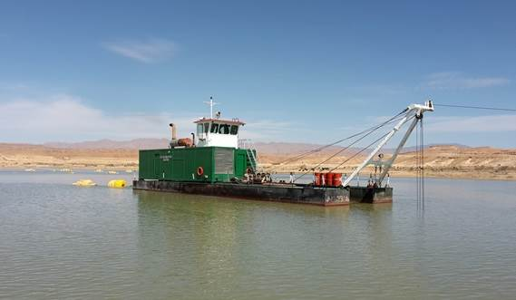 A DOP Dredger 350 working on maintenance dredging