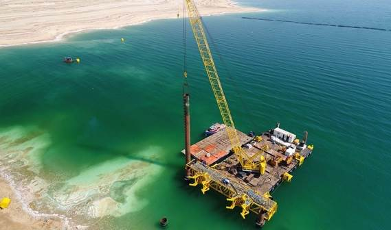 The drilling tool has been designed to attack the hard rock in the Dead Sea area