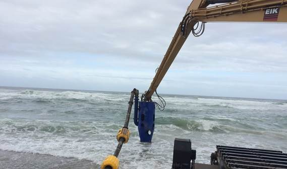 DOP250 on crane boom working in the sea