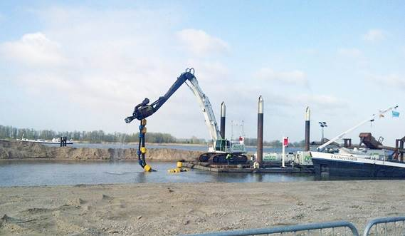 Damen DOP submersible dredge pump for sand mining