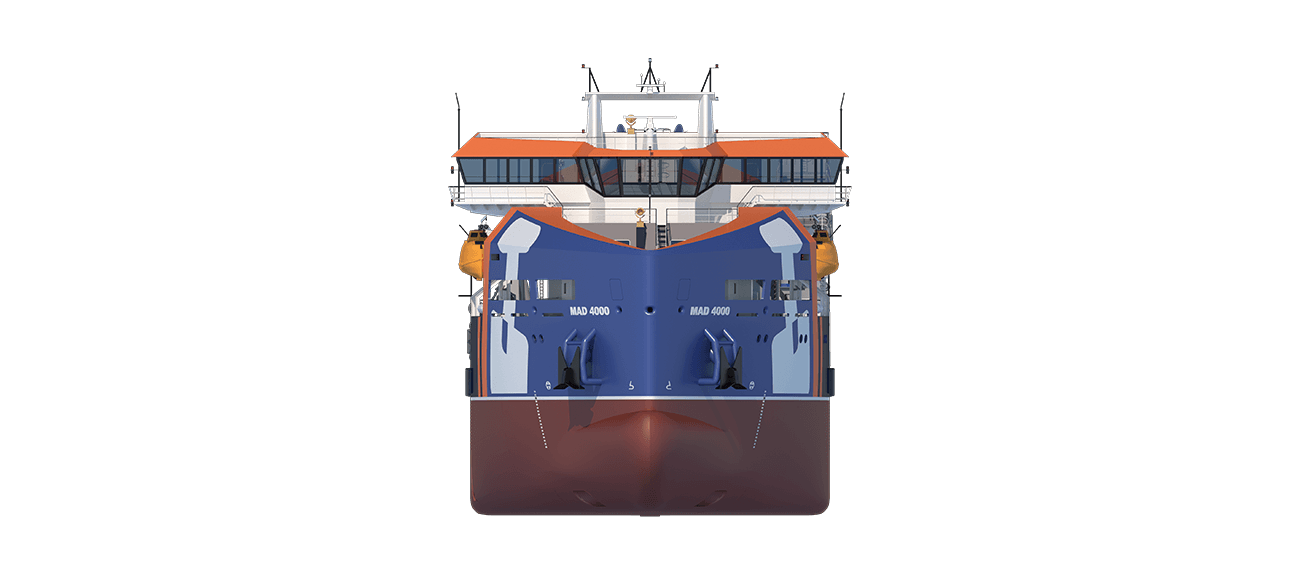 Marine Aggregate Dredger 4000 front view