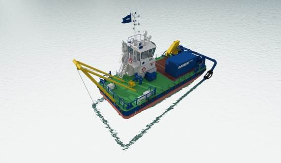 The modular WID kit converts any vessel into a dredger in a few days, while leaving it able to fulfil its primary tasks.