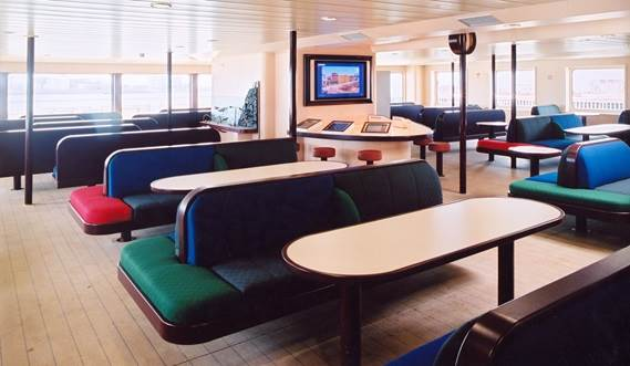 Damen RoPax Ferry - Stylish, practical and high quality interior.