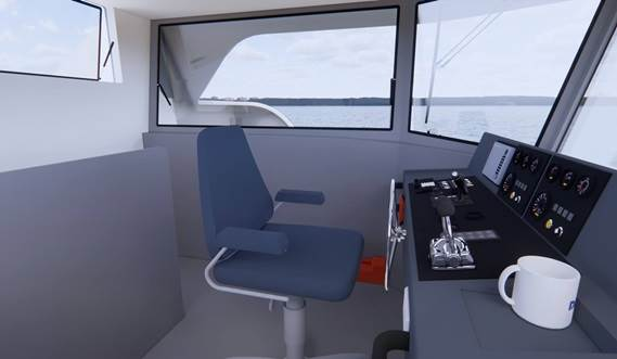 Damen Ferry 2806 wheelhouse