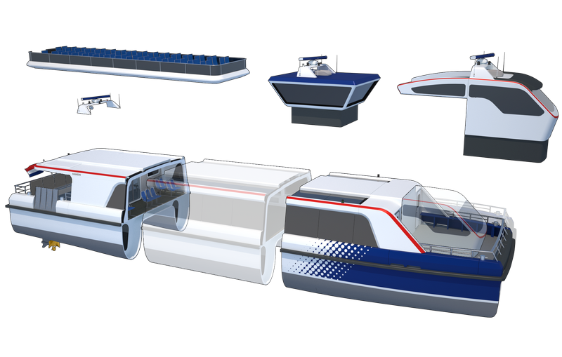 Damen can offer a complete package for any waterbus system