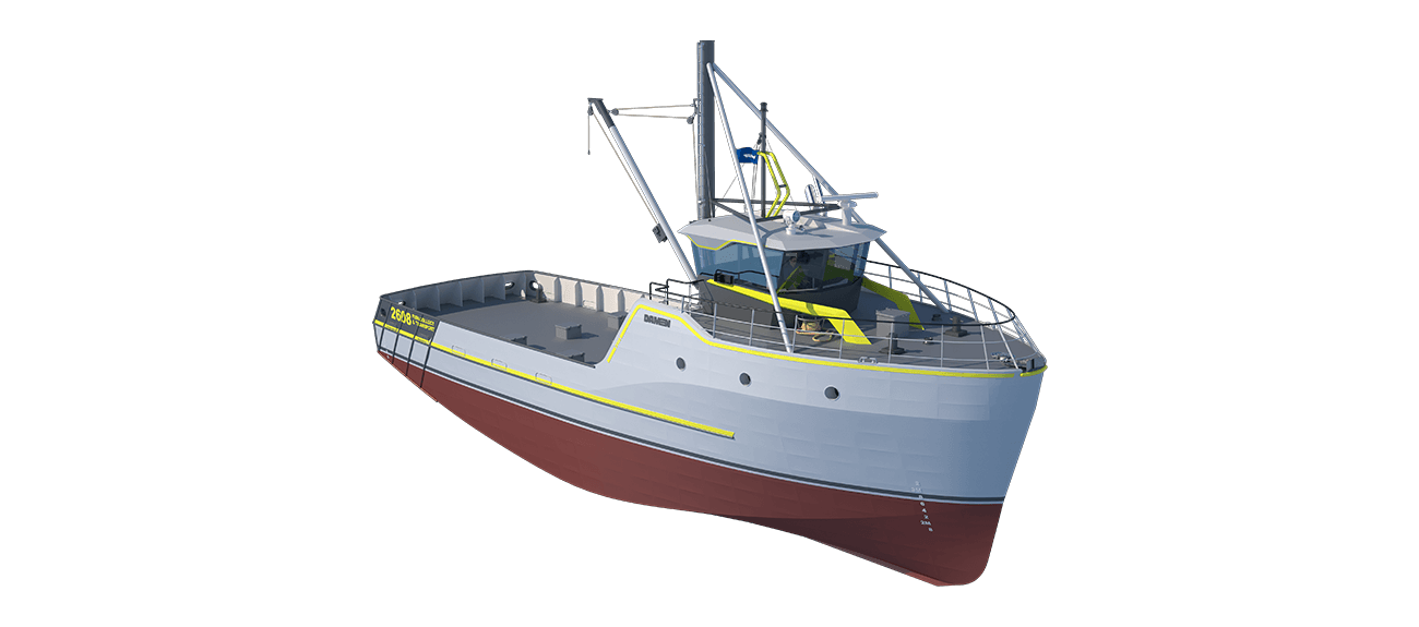 Damen Sea Fisher 2608 - Fish Collecting and Transport perspective front SB