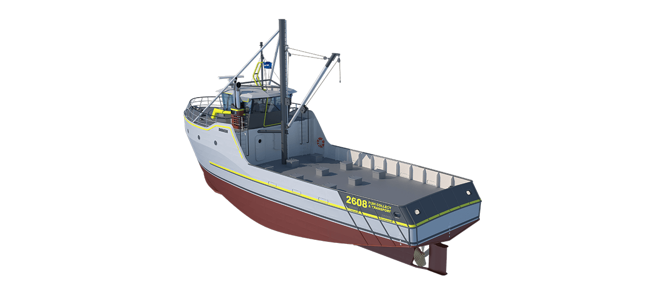 Damen Sea Fisher 2608 - Fish Collecting and Transport perspective aft PS