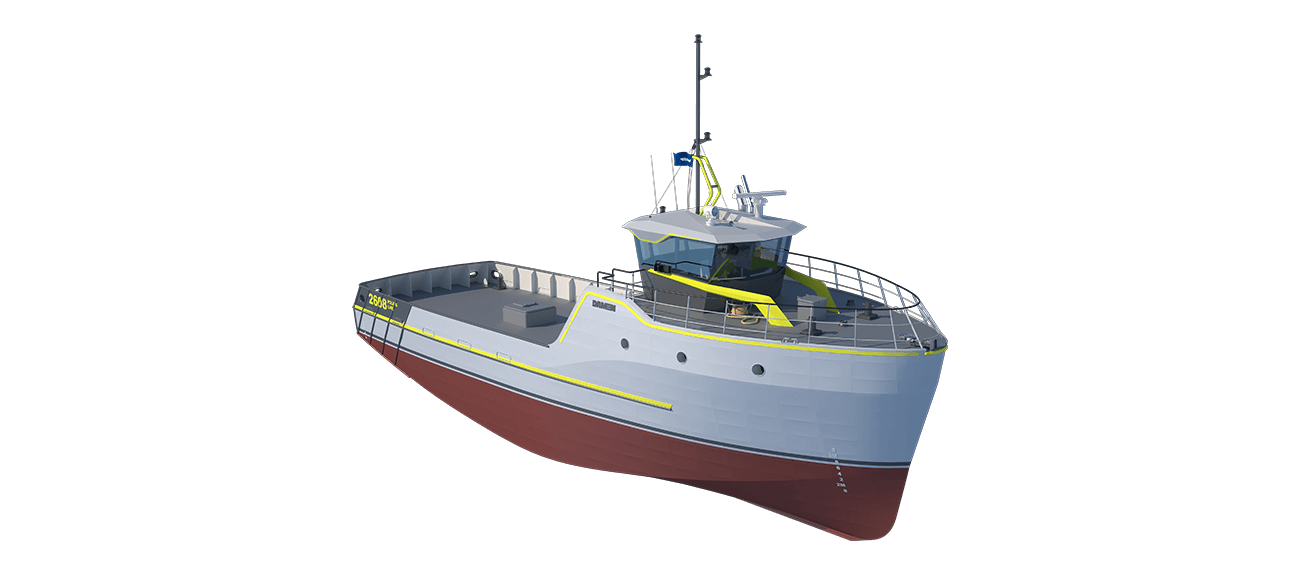 Damen Sea Fisher 2608 - Pole and Line perspective front SB