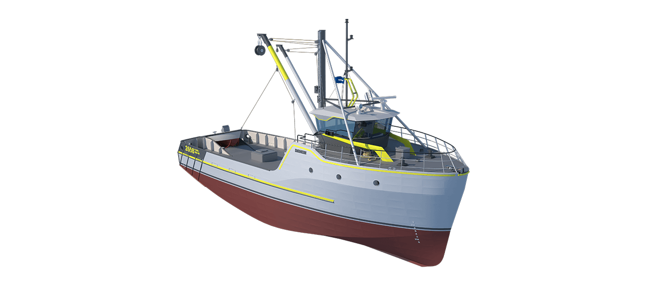 Damen Sea Fisher 2608 - Purse Seiner perspective front SB