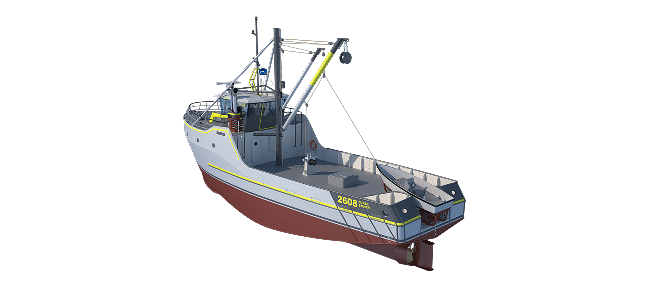 Damen Sea Fisher 2608 - Purse Seiner perspective aft PS