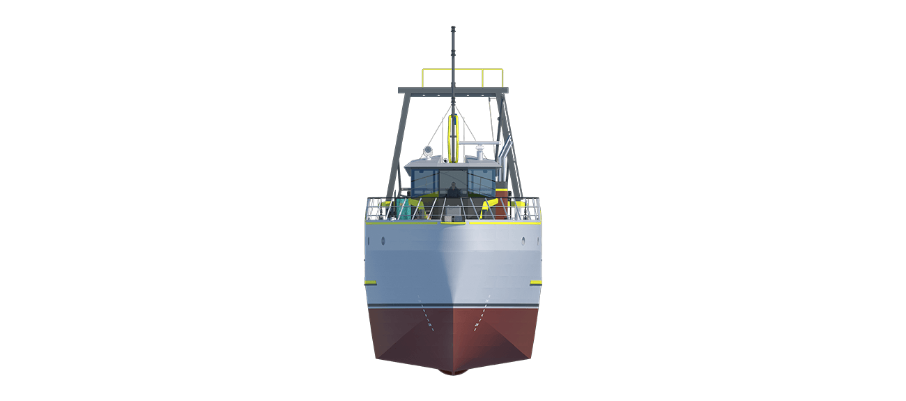Damen Sea Fisher 2608 - Stern Trawler front view