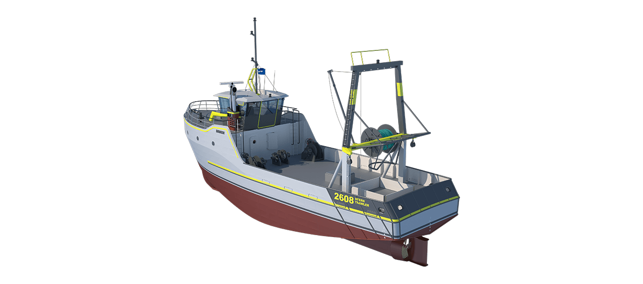 Damen Sea Fisher 2608 - Stern Trawler perspective aft PS