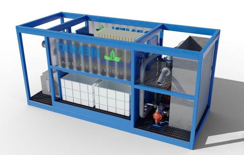 scrubber wash water treatment system