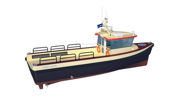 FCS 1204 FRP Workboat