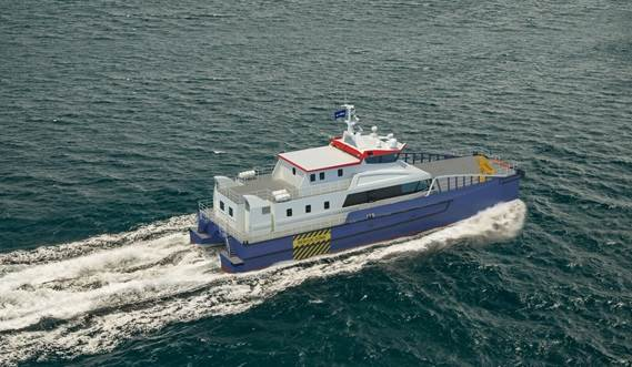 Damen FCS 3410 with high tunnel clearance offers excellent seakeeping capabilities