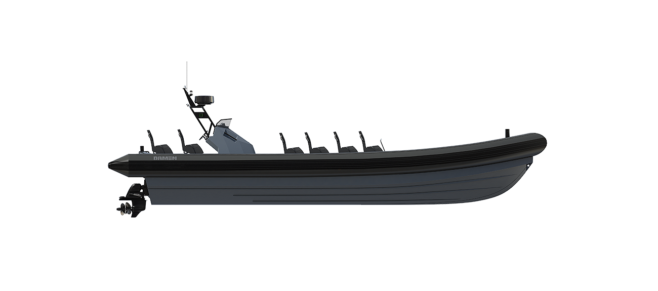 The Damen RHIB 1200 has an extreme manoeuvrability
