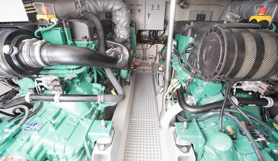 Large engine room making maintenance easy