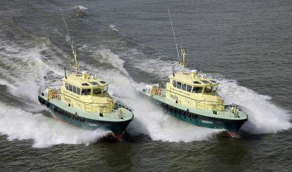 The Nigerian Ports Authority took delivery of two Damen Stan Tenders 1905