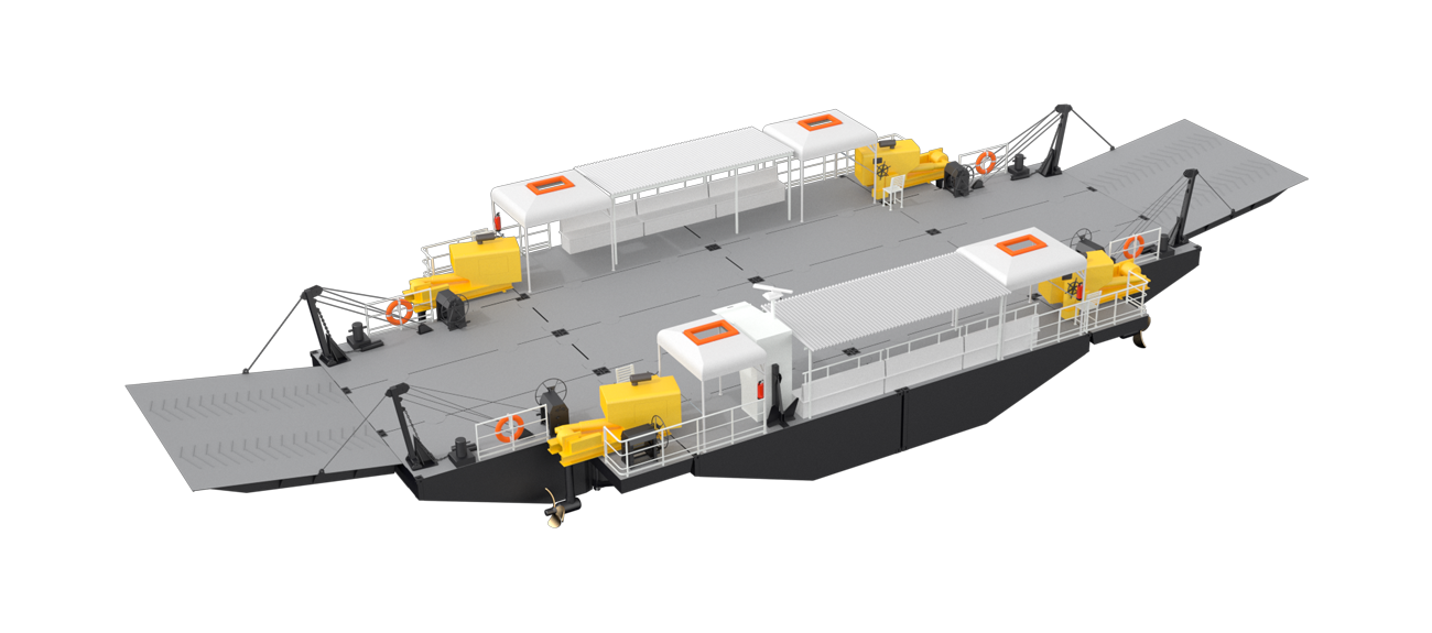 All selected machinery and equipment is based on robust and proven technology at Modular Ferry
